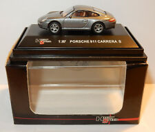 Modell Sammlung High-Speed HO 1/87 PORSCHE 911 CARRERA grau s Silber in BOX