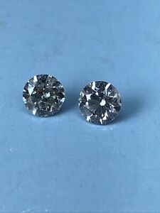 Loose natural Diamond Round 0.77 Ct VS1 Fancy Light Pink (2 Diamods)