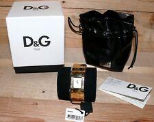 Dolce & Gabbana DW0346 KILT D&G Damen Armbanduhr D&G Uhr gold Geschenkbox