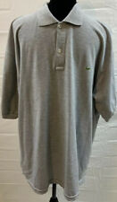 Lacoste Polo Size 3XL Mens Short Sleeve Grey Cotton Embroidered Patch EUC