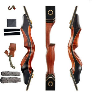 Takedown Recurve Bow Archery Laminated Limbs Adult Hunting Target 30-50lbs