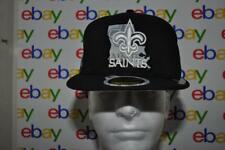 New Orleans Saints New Era NFL State Flective Redux 59FIFTY Cap Hat Black NWT