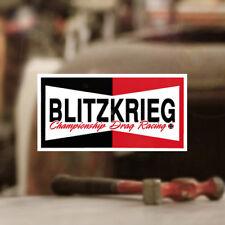Blitzkrieg Racing Champion Sticker Aufkleber Autocollante Cox T1 T2 Käfer 90mm