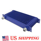 Aluminum Engine Transmission Racing Oil Cooler Blue 10-row 10an Powder-coated