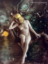 Charles Gilhousen Photo, Untitled Figure Sitting, Art Nouveau, 1919