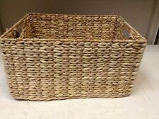 Rectangular Woven Seagrass Storage Organizer Toys Magazine Basket LARGE 15.5X11