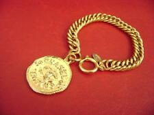 Chanel CC logo double sided coins w/ chain bracelet