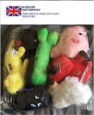 Minecraft Plush Toys Stuffed Teddy Creeper Pig Ocelot Enderman Set Of 7