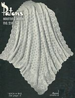"Baby Vintage Shawl Knitting Pattern ""Rock-a-Bye"" 4ply 271"