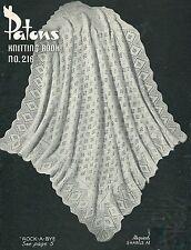 "Baby Vintage Heirloom Shawl Knitting Pattern ""Rock-a-Bye"" 4ply 271"