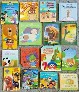 Lot of 16 Children's BOARD Hardcover BABY TODDLER DAYCARE Kids BOOKS Free Ship