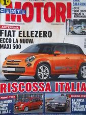 Gente Motori n°2 2012 - Fiat 500 Maxi - Lancia Thema Audi A6 Avant [Q199A]