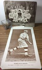 1913 World Series Game 1 Baseball A's Giants Home Run Baker Umpire Klem Lavan +