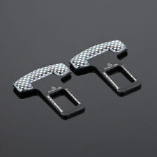 2Pcs Universal Car Safety Seat Belt Buckle Alarm Stopper Clip Carbon Fiber Clamp