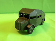 MADE IN ENGELAND - MILITARY ARMOURED CAR - ARMY GREEN - RARE 1:55? - GOOD COND