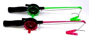 Childs Childrens Crab Rod & Line in Pink or Green - Peg NO HOOKS Sea Fishing Set