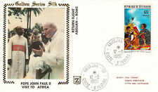 1980 POPE JOHN PAUL II AFRICA ROME FLIGHT POSTAL COVER