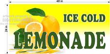 2' X 4' VINYL BANNER ICE COLD LEMONADE LEMON ADE NEW GRAPHICS