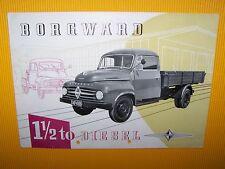 BORGWARD 1 1/2 To Diesel B 511 sales brochure ca 1959 Prospekt Hauber 1,5 t LKW
