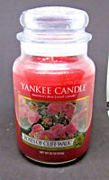 DISCONTINUED YANKEE CANDLE -ROSES OF CLIFF WALK- 22 OZ JAR NEW RARE