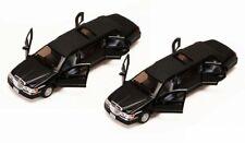 KINSMART 1999 LINCOLN TOWN CAR STRETCH LIMOUSINE SET BOX OF 6 1/38 DIECAST CARS