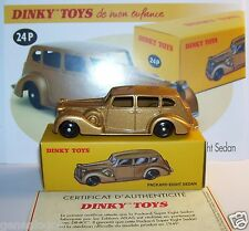 DINKY TOYS ATLAS PACKARD SUPER EIGHT SEDAN GOLDEN GOLD 1/43 REF 24P IN BOX