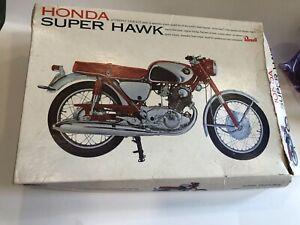 1966 REVELL HONDA SUPER HAWK MOTOR BIKE, 1/8, H-1233-350, Unassembled in box