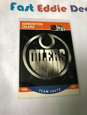 PRO SET NHL HOCKEY 1990 EDMONTON OILERS TEAM FACTS CARD 571 EXCELLENT