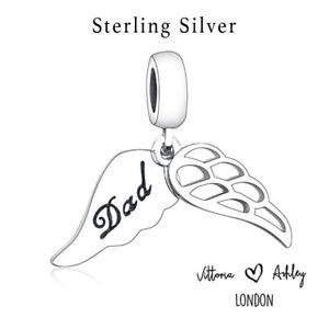 ❤️Dad Baby Angel Nan Mum Wings Heaven Genuine 925 Sterling Silver Charm Stunning