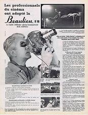 PUBLICITE ADVERTISING 084 1962 BEAULIEU  R16 à visée réflexe ultra lumineuse