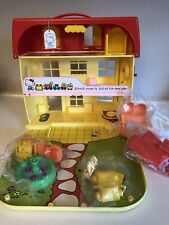 Vintage Sanrio Hello Kitty's Mansion Playset Carry Case w/figurines ~ New In Box