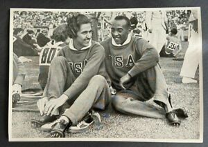 Jesse Owens 1936 Olympics With Helen Stephens- Mint German 6 1/2 x 4 1/2 Inches