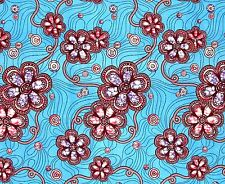 African Fabric 1/2 Yard Cotton Wax Print BLUE PINK PURPLE BURGUNDY Abstract BTHY