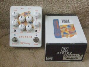 Keeley Caverns V2 Delay/Reverb dual effects pedal.