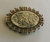 Antique Victorian silver aesthetic movement brooch