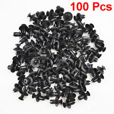 100pcs 8mm Hole Plastic Fasteners Rivet Retainer Push Pin Clips Bumper Screw