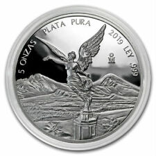 PROOF LIBERTAD - MEXICO - 2019 5 oz Proof Silver Coin in Capsule
