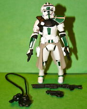 STAR WARS CLONE COMMANDER GREEN LOOSE COMPLETE