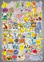 80pc No repeat Pokémon Stickers POKEMON GO Pikachu Luggage Decal Ornament Mark