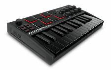 Akai MPK Mini MK3 Black USB Midicontroller Keyboard 25 Minitasten 8 MPC Pads DAW