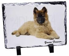 German Shepherd Puppy 'Yours Forever' Photo Slate Christmas Gift Orna, AD-GS3ySL
