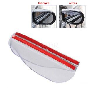 2pcs Clear Car Rear View Side Mirror Rain Board Eyebrow Sun Visor Shade Shield