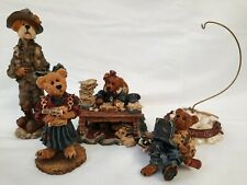 Lot (5) Boyds Bears Bearstone Collection Figurines with Boxes- The Choir Singer