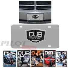 AUTHENTIC DUB EDITION AUTOMOTIVE Aluminum 3D License 1 Plate Black - US SELLER