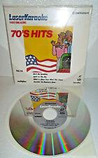 Pioneer Laser Karaoke Disc 70s Hits Vol 36 Vtg 4 Song 8 Inch