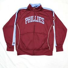Philadelphia Phillies Majestic Baseball Jacket Cooperstown Collection Maroon S
