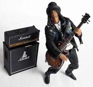 Slash Action Figure Guns N' Roses McFarlane Toys 2005 Complete with guitar & amp