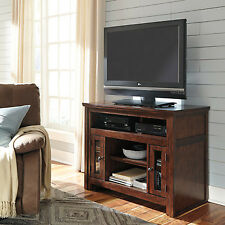 "Ashley Harpan 42"" TV Stand in Reddish Brown"