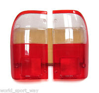 For 1998-2004 Toyota Hilux Tiger D4D Sr5 Tail Light Rear Lamp Lens Pair LH+RH