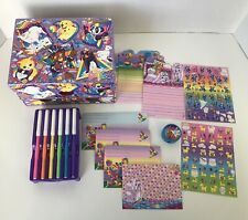 Vintage Lisa Frank Animals Stationary Craft Organizer Box W/ Stickers And Other